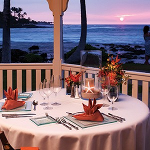 Fairmont Orchid dinner
