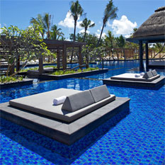 long beach, mauritius turquoise ocean, swmiingpool, romance