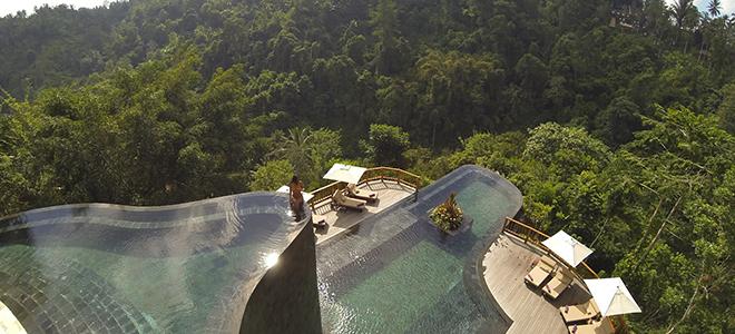 Ubud hanging gardens bali honeymoon packages honeymoon for Hanging garden pool ubud