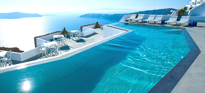Grace santorini greece greece honeymoon packages honeymoon dreams honeymoon dreams - Santorini infinity pool ...