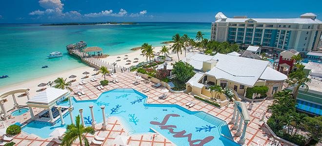 Sandals Royal Bahamian - Bahamas Honeymoon Packages - pool view