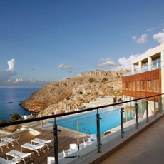 lindos blu hotel - greece honeymoon packages - thumbnail