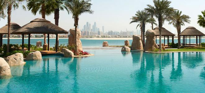 Sofitel the palm - Dubai honeymoon packages - pool landscape