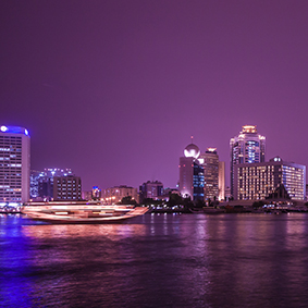 Dubai honeymoon - evening dhow dinner cruise on dubai creek - thumbnail