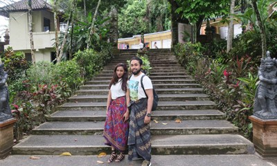 Syeda and Mohammed's Singapore and Bali honeymoon