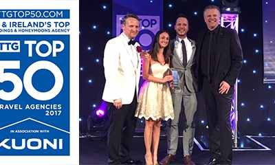 We Won Top Wedding & Honeymoon Agency in the #TTGTop50!