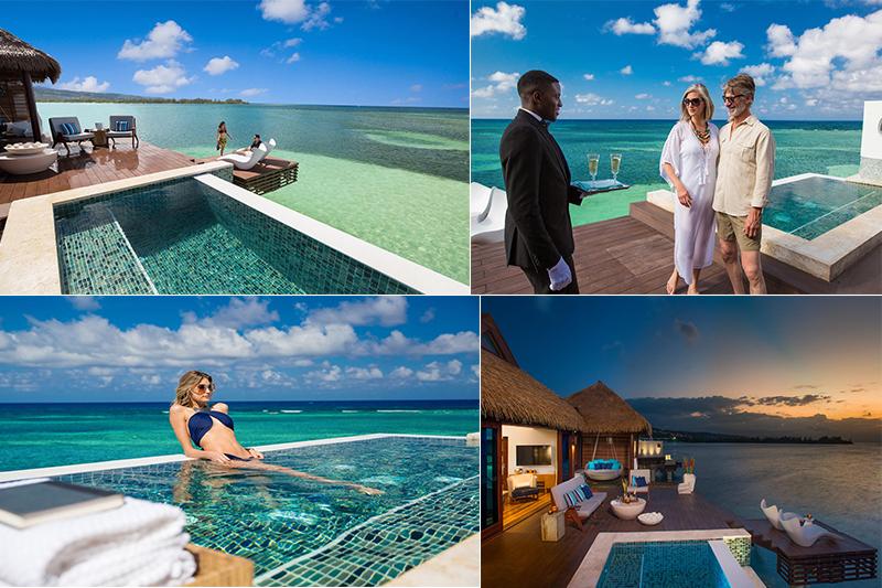 sandals overwater villas royal caribbean infinity pool