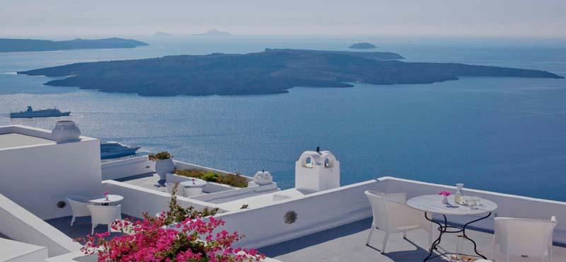 Cliff side suites santorini luxury greece honeymoon for Honeymoon packages santorini greece