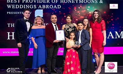 Honeymoon Dreams Wins Best Provider of Honeymoons & Wedding abroads at MAWA 2017