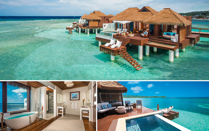 sandals royal caribbean over water villas